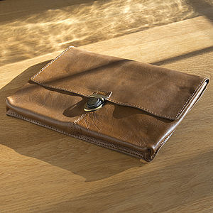 Buffalo Leather Old School Laptop Case