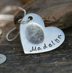 Fingerprint Heart Necklace - jewellery