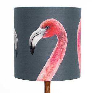 Flamingo Lampshade - retro living room