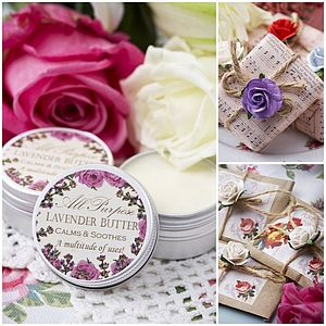 Lavender Range Small Gift Box - skin care sets