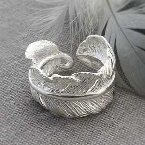 Silver Feather Ring - rings