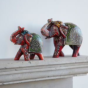 Almirah Antique Style Elephant - decorative accessories