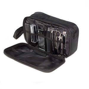 Gentleman'S Wash Bag And Grooming Set - make-up & wash bags