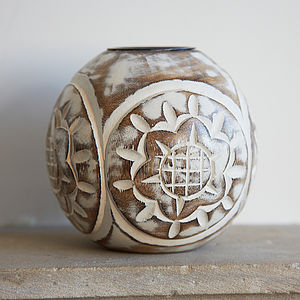 Wooden Tea Light Holder - home accessories