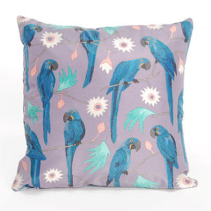 Macaws Cushion - decorative accessories