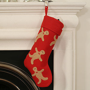 Gingerbreadman Christmas Stocking - stockings & sacks