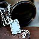 Fingerprint Tag Mens Chain