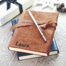 Personalised Wraparound Leather Journal