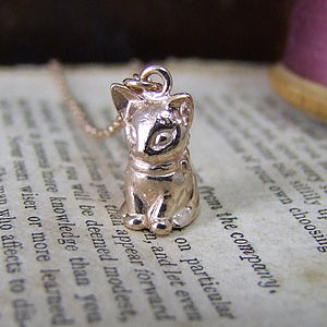 Vintage Kitten Pendant - necklaces & pendants