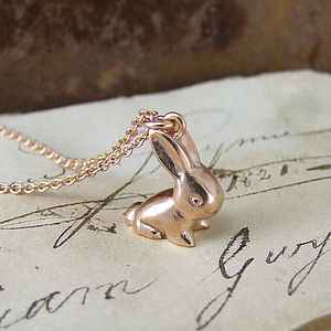 Vintage Bunny Pendant - necklaces & pendants