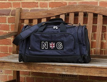 Personalised Navy Sports Bag