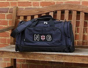 Personalised Navy Sports Bag - men's sale
