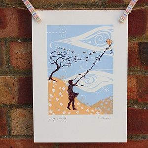 Imagination Original Silkscreen Print - posters & prints