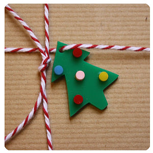 'Christmas Tree' Gift Wrap Decorations - christmas