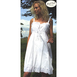 Maria Cotton Nightdress - lingerie & nightwear