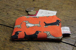 Dachshund Small Zipped Purse - womens