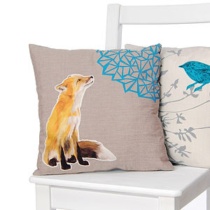 Martha Fox Cushion - patterned cushions