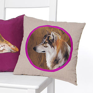 Wolf Cushion - decorative accessories