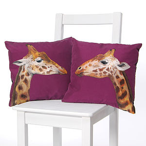 Giraffes Cushion - decorative accessories