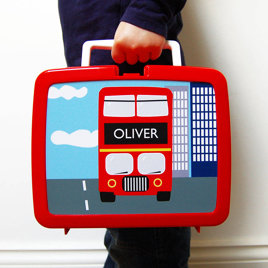 personalised plastic lunch box various designs by spotty n stripy