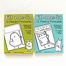 'Fill Me In' 12 Positive Postcards