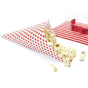Paper Popcorn Cones - table decorations