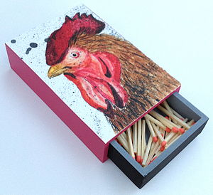 'Funky Chicken' - fireplace accessories