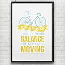 'Keep Your Balance' Bike Poster