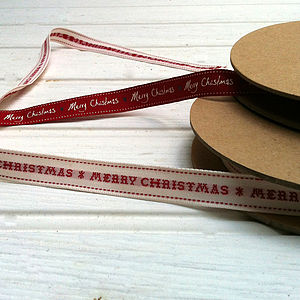 Large Roll Of Christmas Ribbon - cards & wrap