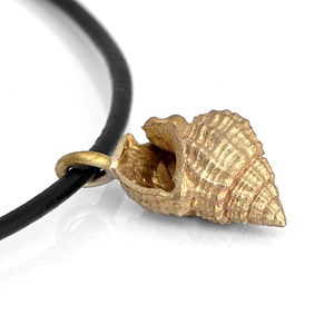 Brass Shell Pendant - charm jewellery