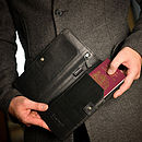 Harris Tweed Travel Wallet