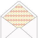 Graphic paper lined starfish envelopes