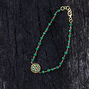 Emerald And Gold Friendship Bracelet