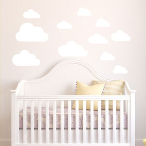 Cloud Wall Stickers - children's room