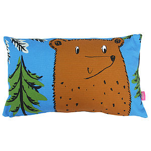 Brown Bear Cushion - soft furnishings & accessories