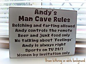 Personalised Man Cave Rules Sign - outdoor decorations
