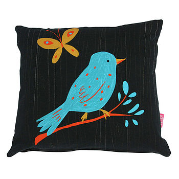 Woodland Bird Cushion