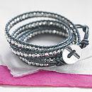 Metallic Leather Wrap Bracelet