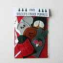 Handmade Felt Woodland Friends Finger Puppets