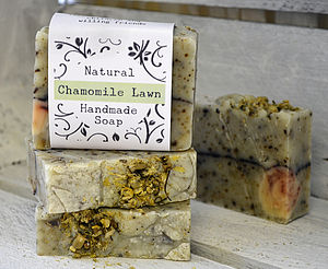 Chamomile Lawn Handmade Natural Soap Gift - bathroom