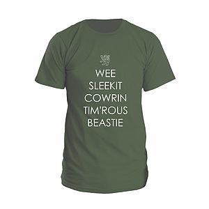 'Wee Sleekit Cowrin Timrous Beastie' T Shirt