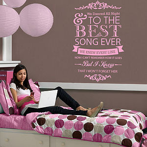 One Direction 'Best Song Ever' Wall Sticker - wall stickers