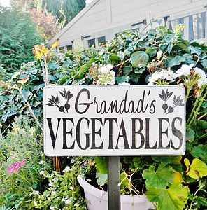 Personalised Vegetable Garden Sign
