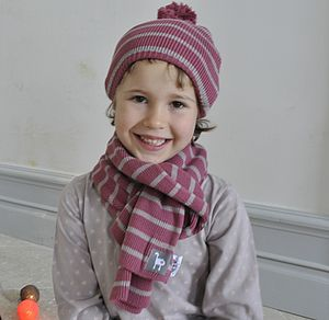 Pompon Hat And Scarf - children's accessories