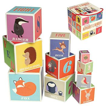 Woodland Animals Set Of Stacking Blocks