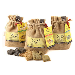 100% Natural Antler Bake Dog Biscuits - dogs
