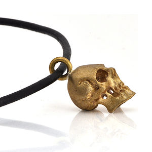Brass Skull Pendant - necklaces