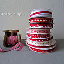 Festive Christmas Giftwrapping Ribbon