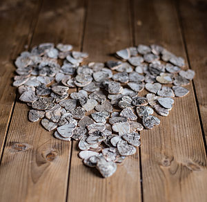 Wooden Heart Table Scatters - home