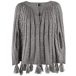 Woolly Knit Poncho - women's fashion